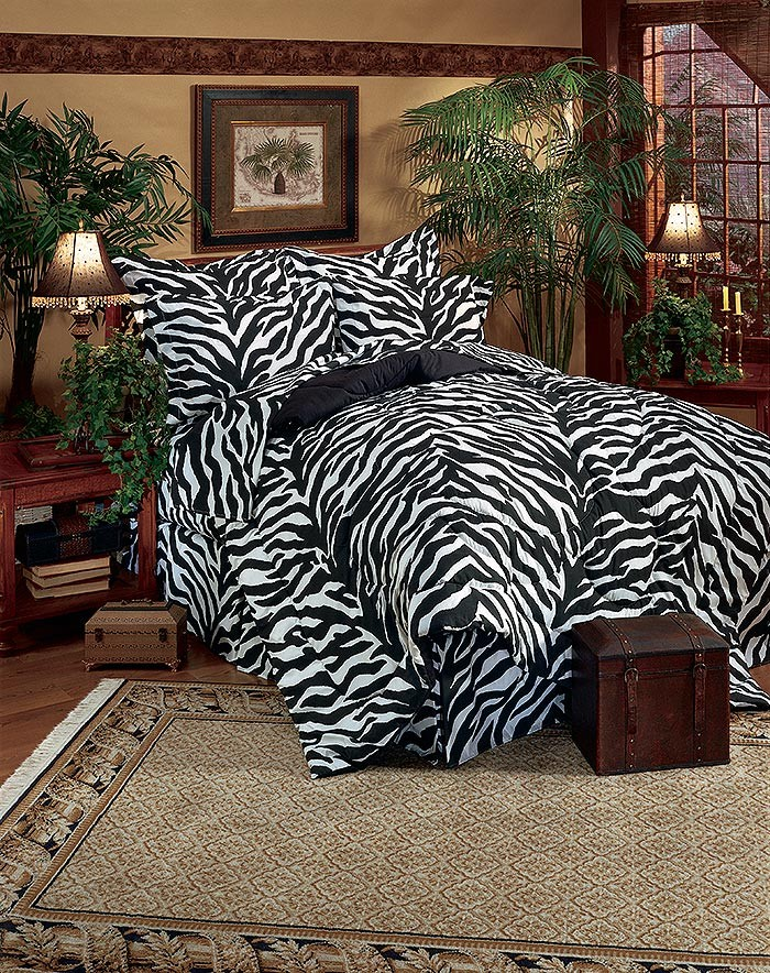 Black white zebra print flex fit sheet set blanket Zebra print bedding