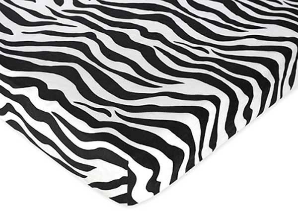 Hot Pink Zebra Crib Sheet