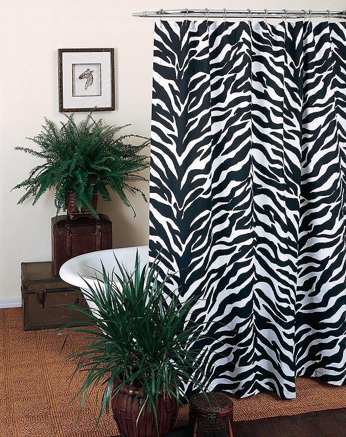 Black & White Zebra Shower Curtain
