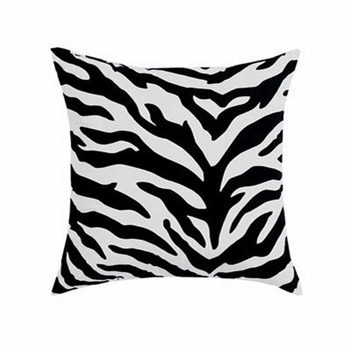 Black & White Zebra Square Accent Pillow
