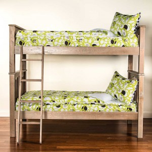 Full Circle Green Twin Size 2 Piece Bunkie Set