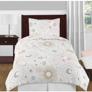 Celestial Pink & Gold Bedding Set - 4 Piece Twin Size By Sweet Jojo Designs