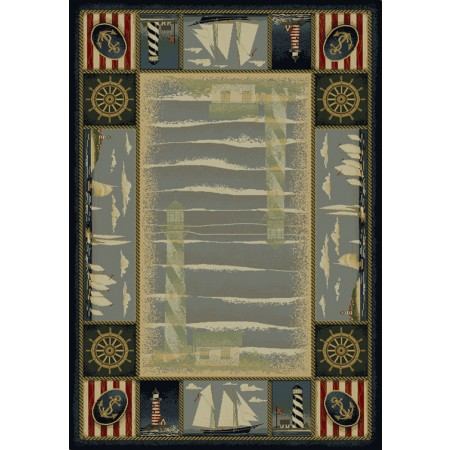 """Yachtsmen 63"""" Width X 90"""" Length Area Rug - Closeout"""