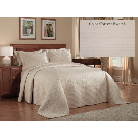 French Tile King Bedspread - Butter Cream - Clearance