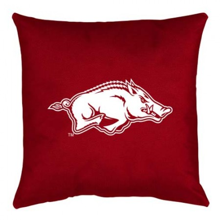 Arkansas Razorbacks Locker Room Toss Pillow - 18 X 18