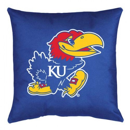 Kansas Jayhawks Locker Room Toss Pillow - 18 X 18