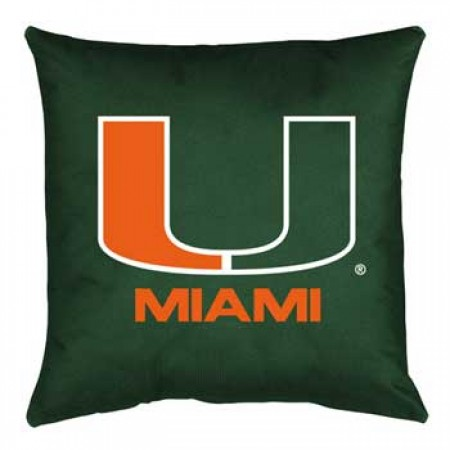 Miami Hurricanes Locker Room Toss Pillow - 18 X 18