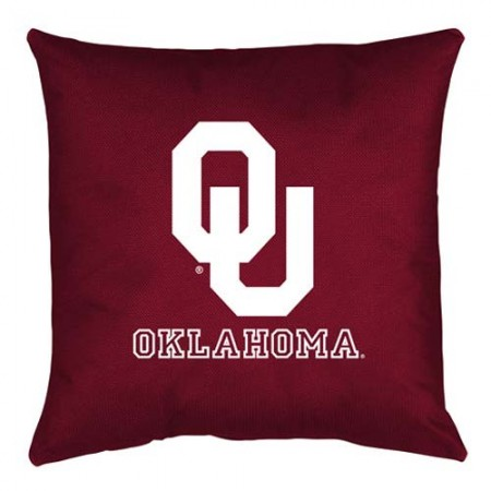 Oklahoma Sooners Locker Room Toss Pillow - 18 X 18