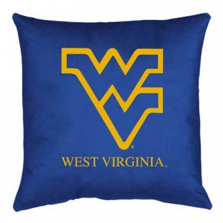 West Virginia Mountaineers Locker Room Toss Pillow - 18 X 18