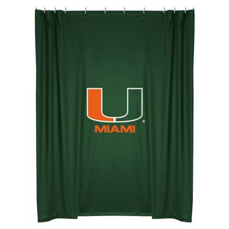 Miami Hurricanes Shower Curtain