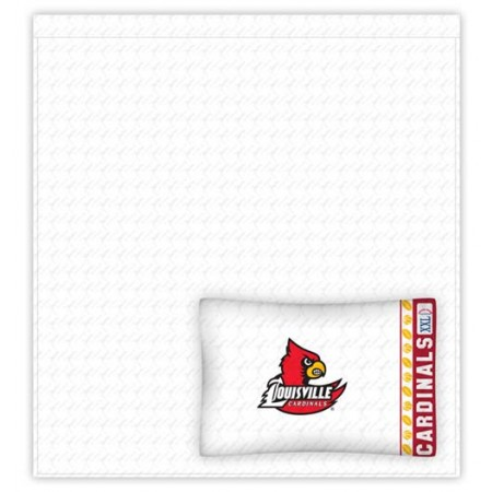Louisville Cardinals Twin Size Sheets Set