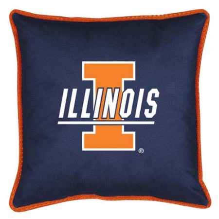 "Illinois Fighting Illini  17"" X 17"" Sideline Accent Pillow"