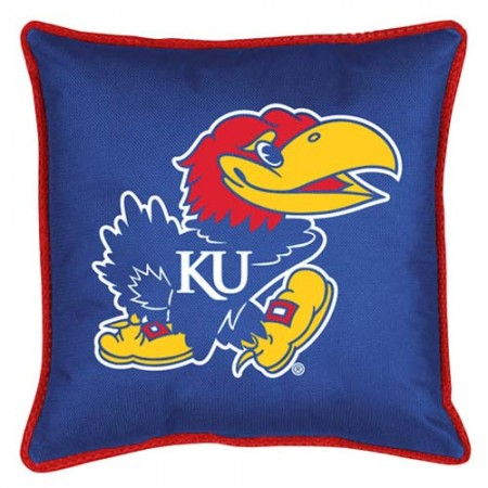 "Kansas Jayhawks Toss Pillow - 18"" X 18"" Sideline Toss Pillow"
