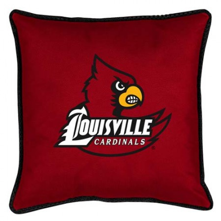 "Louisville Cardinals Toss Pillow - 18"" X 18"" Sideline Toss Pillow"