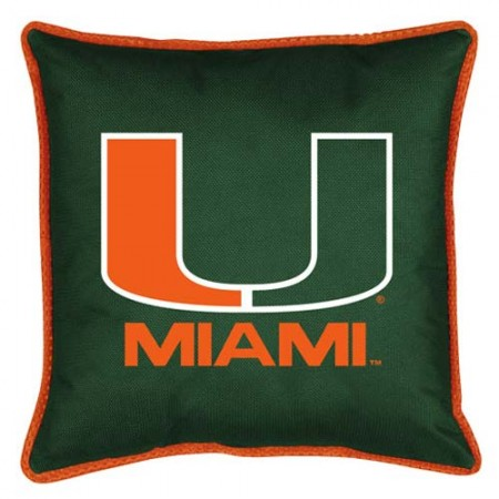 "Miami Hurricanes Toss Pillow - 18"" X 18"" Sideline Toss Pillow"