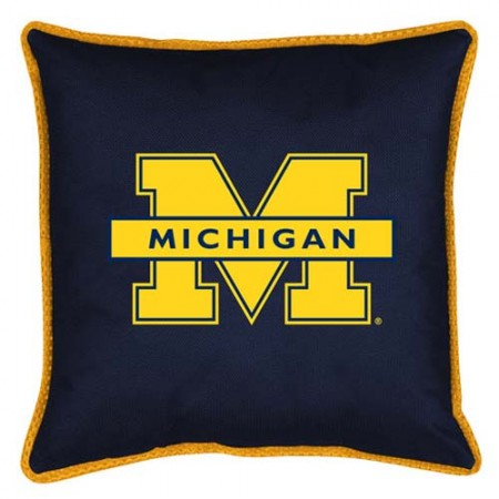 "Michigan Wolverines Toss Pillow - 18"" X 18"" Sideline Toss Pillow"
