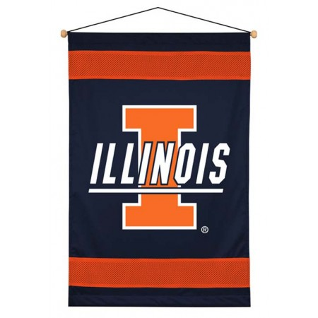 Illinois Fighting Illini Sideline Wall Hanging - 28 X 45
