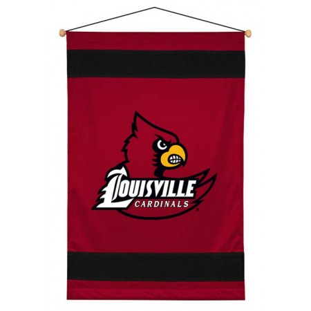 Louisville Cardinals Sideline Wall Hanging - 28 X 45