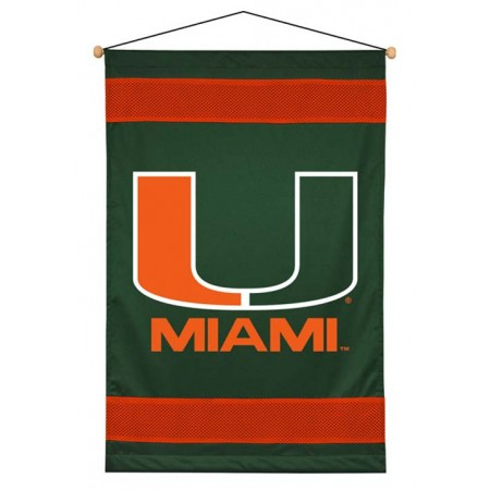Miami Hurricanes Sideline Wall Hanging - 28 X 45