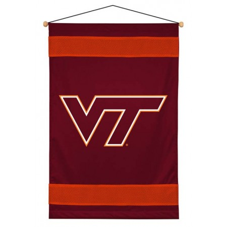 Virginia Tech Hokies Sideline Wall Hanging - 28 X 45