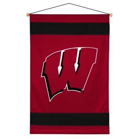 Wisconsin Badgers Sideline Wall Hanging - 28 X 45