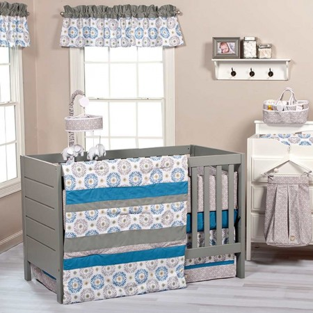 Monaco 3 Piece Crib Bedding Set