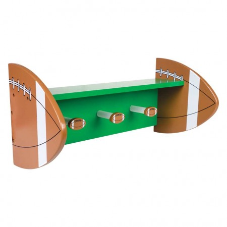 FOOTBALL - WALL SHELF WITH PEGS
