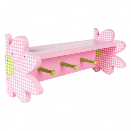 DARLING DAISY - WALL SHELF WITH PEGS