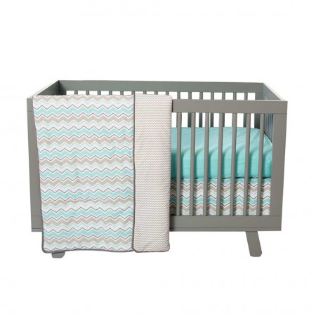 Seashore Waves 3 Piece Crib Bedding Set
