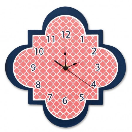 Multi Quatrefoil Wall Clock