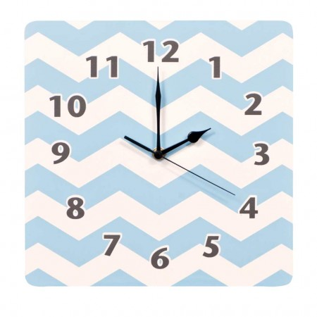 Blue Sky Chevron Wall Clock