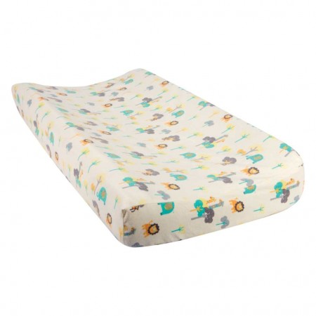 Lullaby Jungle Deluxe Flannel Changing Pad Cover