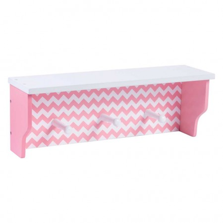 Pink Chevron Shelf