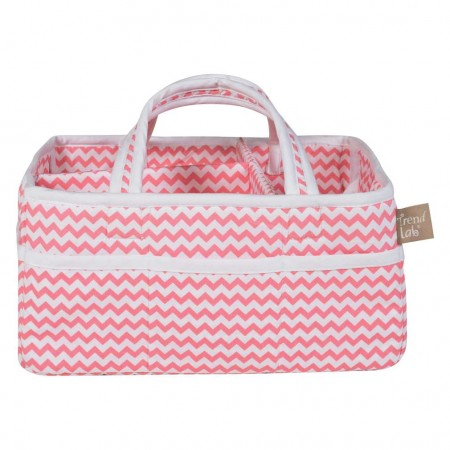 Coral Chevron Storage Caddy