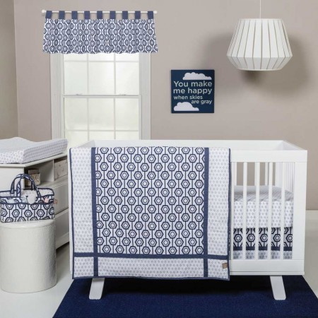 Hexagon 3 Piece Crib Bedding Set