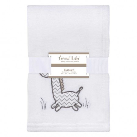 Giraffe Safari Plush Baby Blanket
