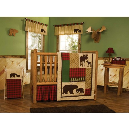 Northwoods 6 Piece Crib Bedding Set