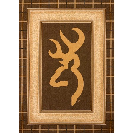 Buckmark Brown Area Rug