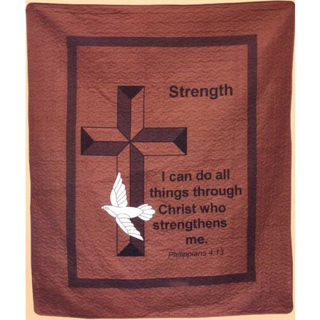 Strength Throw Size Quilt