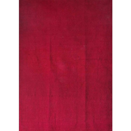 Harmonious Mist Throw Size Quilt - Brick Red