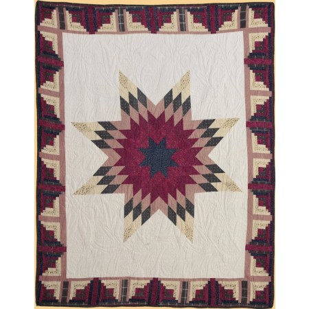 Cabin Star Throw Size Quilt