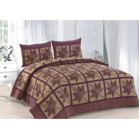 Maple Ridge King Size Quilt Set - Includes 2 Standard Pillow Shams