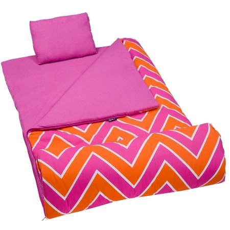 Zig Zag Pink Sleeping Bag by Olive Kids