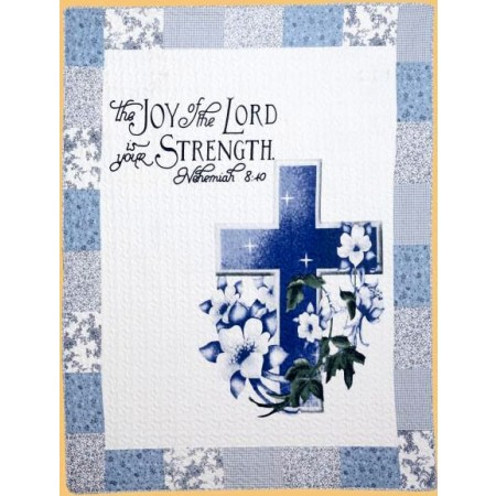 The Joy of the Lord Throw Size Quilt