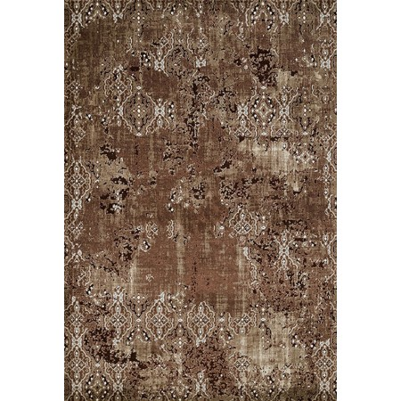 RARITY BROWN Area Rug - Transitional Style