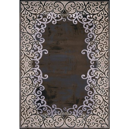 LUMINOUS DARK TAUPE Area Rug - Transitional Style