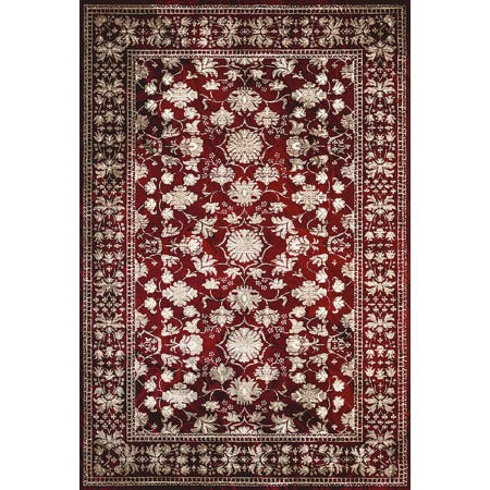 AUSTRALIS GARNET Area Rug - Transitional Style