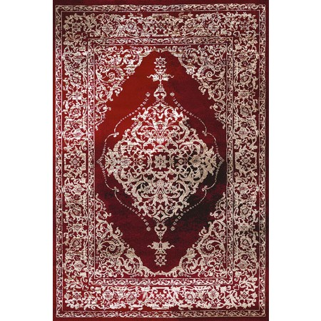 PERSIA RED Area Rug - Transitional Style