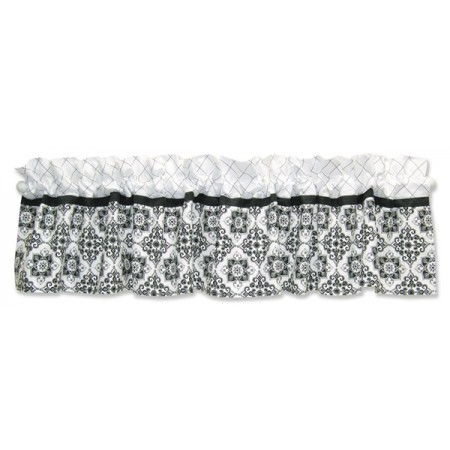 Versailles Black & White - Window Valance