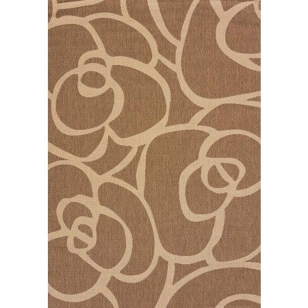 Veranda Brown Area Rug - Transitional Style